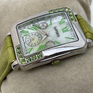Lucien Piccard Wrist Watch Green Crystal Women Duf